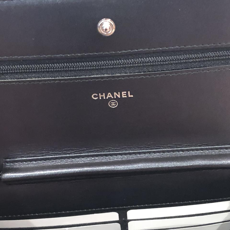 04359781346a Chanel Wallet on Chain New Woc So Crumpled Calf Patent 18s Black ...