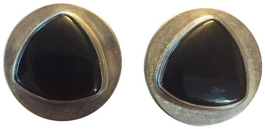 Preload https://img-static.tradesy.com/item/23999181/black-onyx-and-sterling-silver-button-earrings-0-1-540-540.jpg