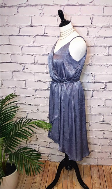 Crescent Satin Wrap Dress