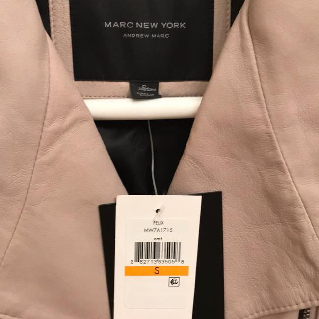 Andrew Marc Tan with pink tone Leather Jacket