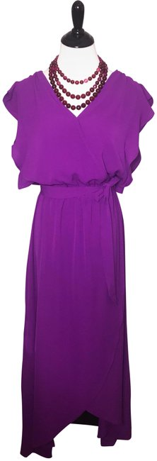 Preload https://img-static.tradesy.com/item/23999296/umgee-purple-solid-v-neck-ruffle-shoulder-casual-maxi-dress-size-4-s-0-1-650-650.jpg