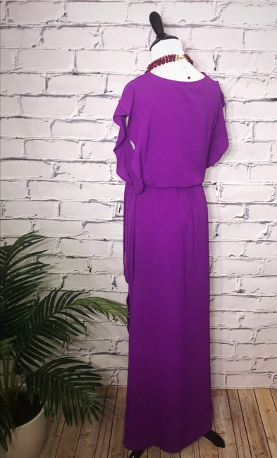 Purple Maxi Dress by Umgee Maxi Ruffles Tie Waist Wrap