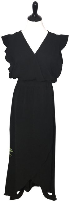 Preload https://img-static.tradesy.com/item/23999305/umgee-black-solid-v-neck-ruffle-shoulder-casual-maxi-dress-size-4-s-0-1-650-650.jpg
