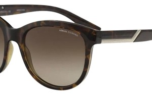A|X Armani Exchange New Armani Exchange Women's AX4051S AX/4051/S 803713 Havana Oval Sunglasses 55mm