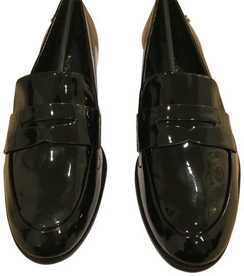 Calvin Klein Black Patent Leather Flats