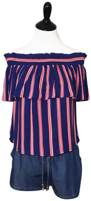 Preload https://img-static.tradesy.com/item/23999321/flying-tomato-striped-off-shoulder-ruffle-layer-red-blue-top-0-1-650-650.jpg