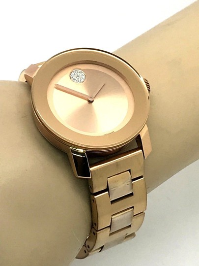 Movado Movado Bold 3600086 Ladies Crystal Rose Gold Tone S\S Swiss Watch