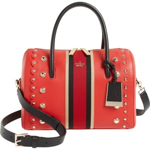 Kate Spade Stewart Street Madison Mega Lane Studded Style # Pxru8197 Satchel in Red Carpet