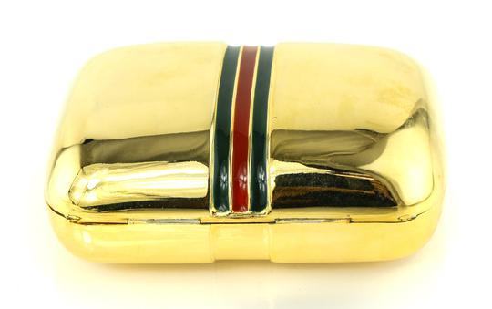 Gucci Vintage Gucci Pillbox with Enamel Colored Bands.