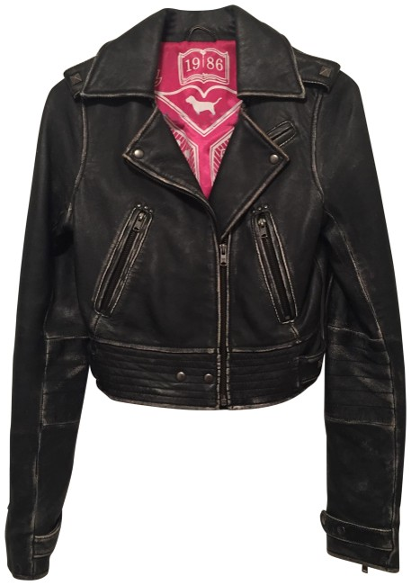 Preload https://img-static.tradesy.com/item/23999366/pink-black-vs-limited-edition-fashion-show-leather-moto-motorcycle-jacket-size-2-xs-0-1-650-650.jpg