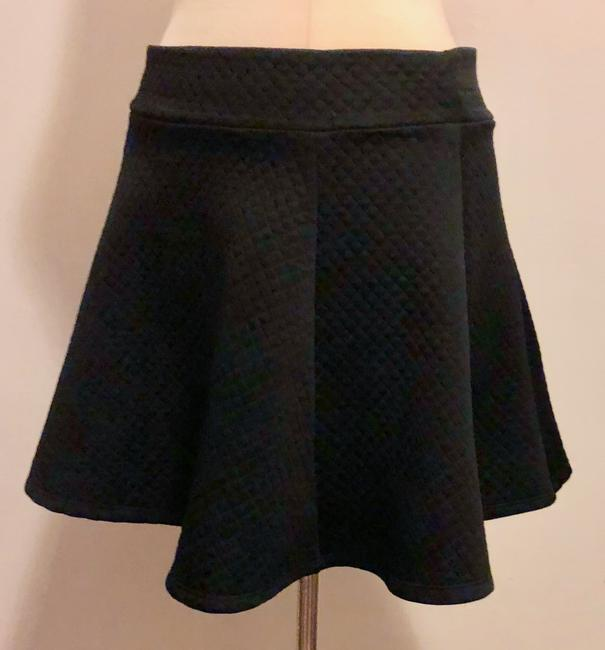 831 Circle Girls Night Out Quilted Fun Heartbreaker Mini Skirt Black
