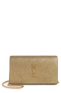 Saint Laurent Satchel in Gold