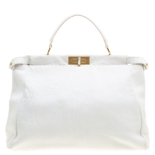 Preload https://img-static.tradesy.com/item/23999374/fendi-large-peekaboo-top-handle-white-leather-and-canvas-shoulder-bag-0-0-540-540.jpg