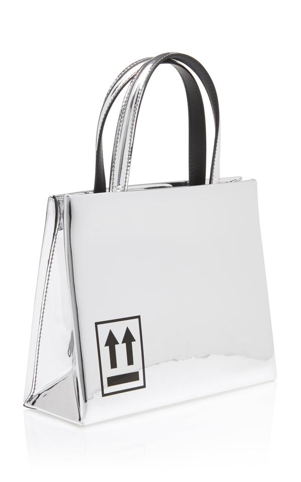 6033ba858aa0 Off-White™ Off-white C O Virgil Abloh Mirror Mini Box Silver Leather ...