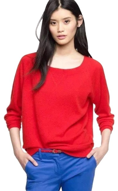 Preload https://img-static.tradesy.com/item/23999431/jcrew-red-collection-isabel-cashmere-sweatshirt-sweaterpullover-size-4-s-0-1-650-650.jpg
