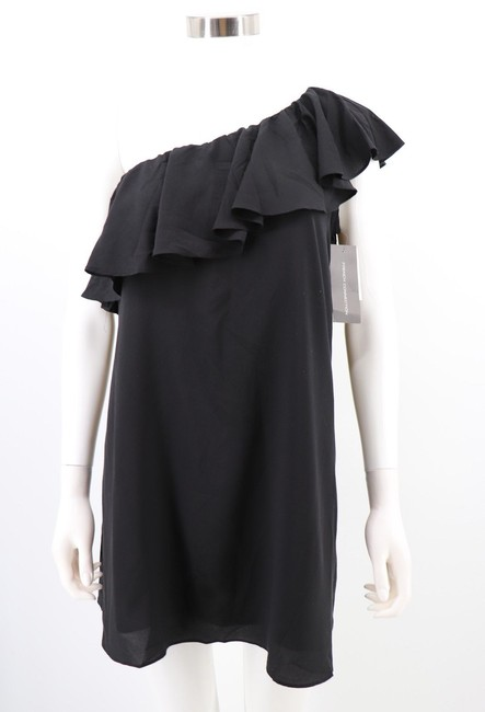 French Connection ;ight One Shoulder Crepe Dress
