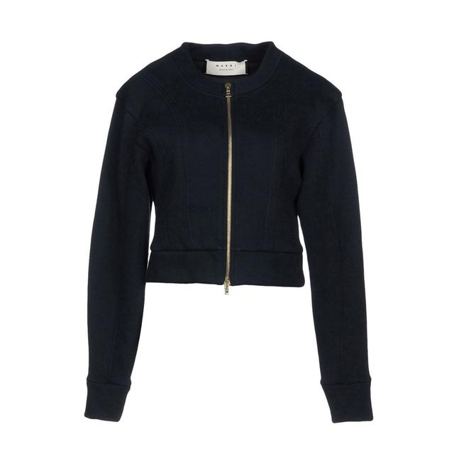 Preload https://img-static.tradesy.com/item/23999440/marni-blue-black-new-with-tags-cotton-jersey-zippered-jacket-size-6-s-0-1-650-650.jpg