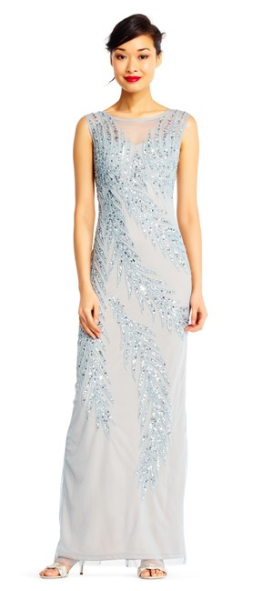 Preload https://img-static.tradesy.com/item/23999463/adrianna-papell-blue-heather-silver-sleeveless-column-with-beaded-palm-accents-long-formal-dress-siz-0-0-650-650.jpg