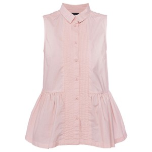 French Connection Cotton Button Down Shirt Pink