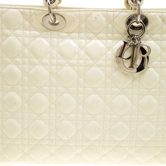 Dior Patent Leather Tote in Cream