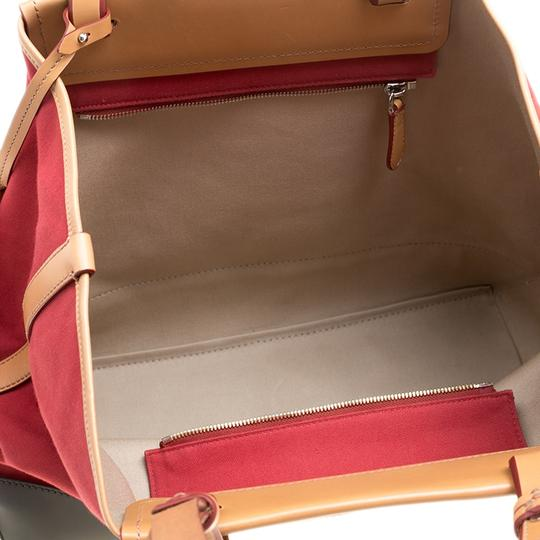 Bally Canvas Tote in Red