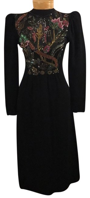 Preload https://img-static.tradesy.com/item/23999533/black-and-multi-color-1836534-mid-length-cocktail-dress-size-6-s-0-1-650-650.jpg