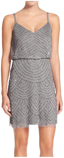 Preload https://img-static.tradesy.com/item/23999537/adrianna-papell-silvergray-art-deco-beaded-short-night-out-dress-size-4-s-0-1-650-650.jpg