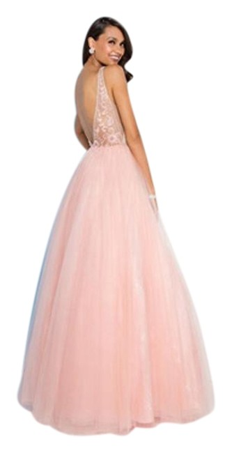 Preload https://img-static.tradesy.com/item/23999543/terani-couture-pinknude-v-neck-tulle-ball-gown-long-formal-dress-size-2-xs-0-1-650-650.jpg