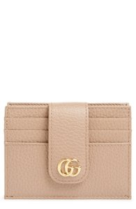 Gucci NEW GG Gucci Marmont Leather Card Holder Case Rose