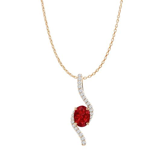 Preload https://img-static.tradesy.com/item/23999586/red-rose-gold-vermeil-oval-ruby-and-cz-freeform-pendant-necklace-0-0-540-540.jpg