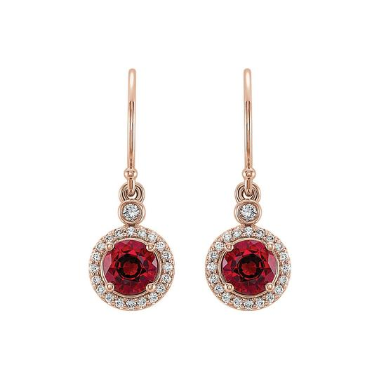 Preload https://img-static.tradesy.com/item/23999608/red-rose-gold-vermeil-ruby-cubic-zirconia-halo-earrings-0-0-540-540.jpg