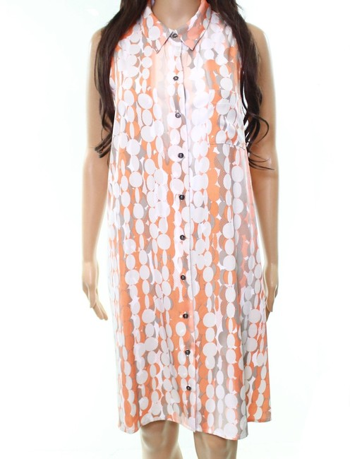 Orange/White/Gray Maxi Dress by Alfani