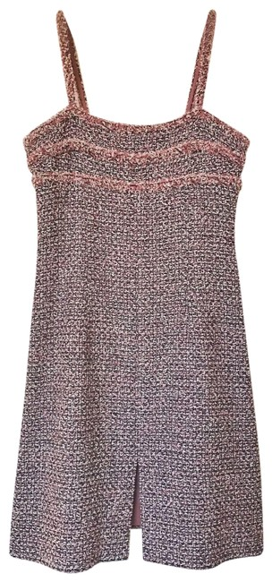 Preload https://img-static.tradesy.com/item/23999622/chanel-pink-iconic-tweed-2013-short-cocktail-dress-size-4-s-0-1-650-650.jpg