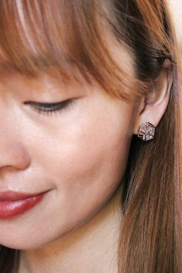 Ocean Fashion Gold Small globular crystal earrings