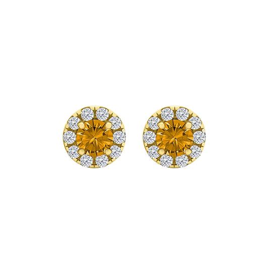 Preload https://img-static.tradesy.com/item/23999678/orange-round-citrine-cz-halo-stud-18k-gold-vermeil-earrings-0-1-540-540.jpg