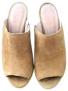 Charlotte Stone light tan Mules