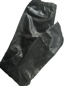 Cusp by Neiman Marcus Leather Slim black Leggings