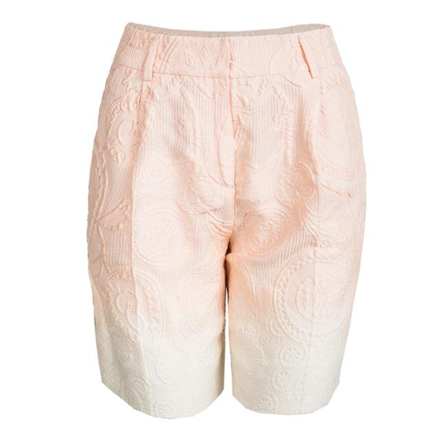 Preload https://img-static.tradesy.com/item/23999758/ermanno-scervino-pink-peach-ombre-embossed-jacquard-s-bermuda-shorts-size-4-s-27-0-0-650-650.jpg