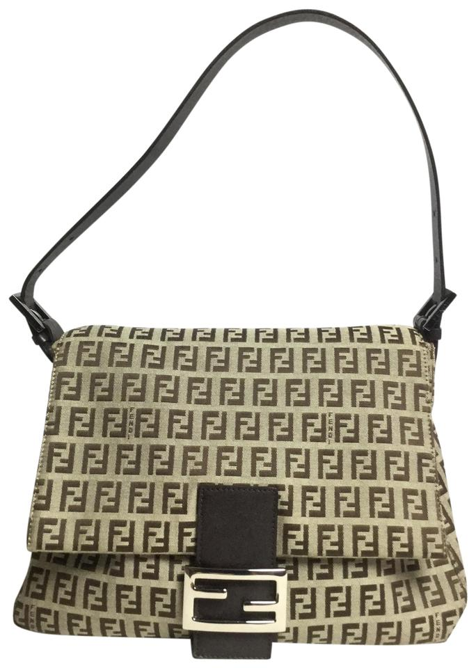e381af548e9 Fendi Zucchino Forever Mama Brown and Tan Canvas Shoulder Bag - Tradesy