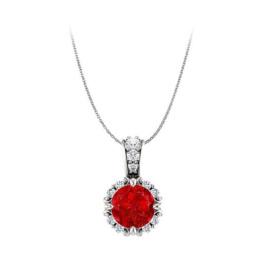 Preload https://img-static.tradesy.com/item/23999792/red-round-ruby-and-cz-accented-bail-pendant-14k-white-gold-earrings-0-0-540-540.jpg