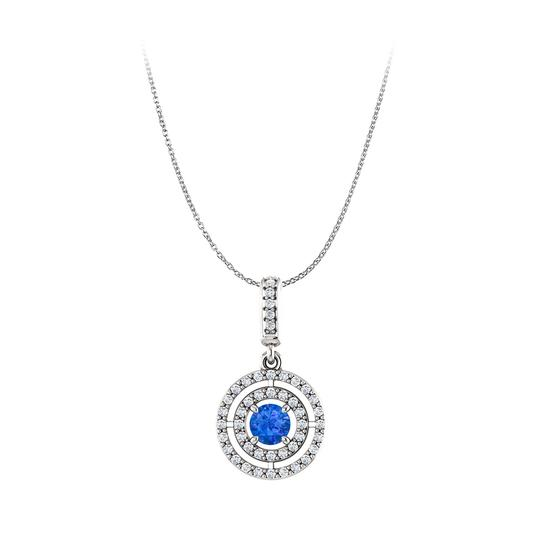 Preload https://img-static.tradesy.com/item/23999803/blue-round-sapphire-and-cubic-zirconia-double-circle-pendant-earrings-0-0-540-540.jpg