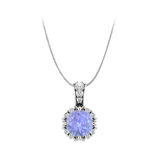 Preload https://img-static.tradesy.com/item/23999826/blue-round-tanzanite-and-cz-embellished-bail-pendant-gold-necklace-0-0-540-540.jpg