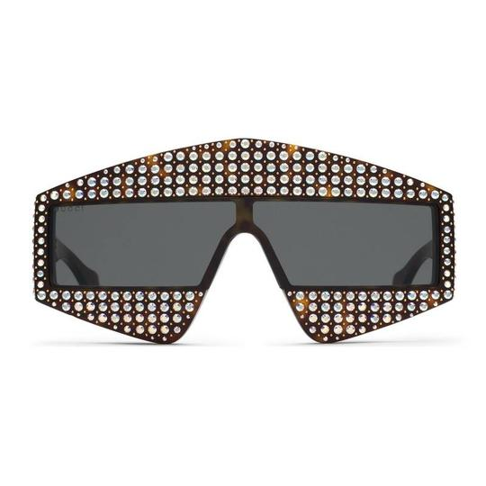 Gucci NEW Gucci 0357S Crystal Hollywood Forever Oversized Sunglasses