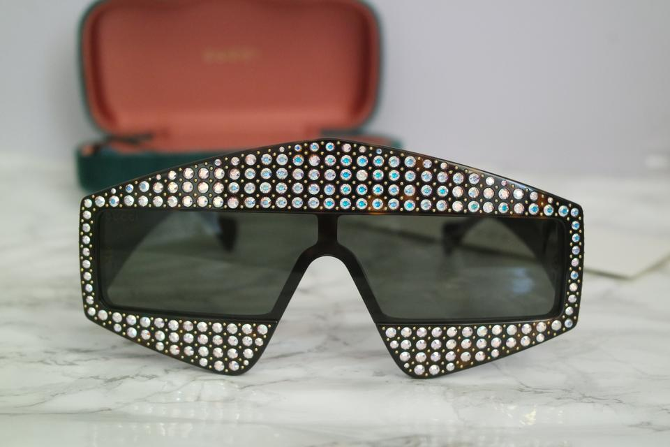 22927a0f359e2 Gucci NEW Gucci 0357S Crystal Hollywood Forever Oversized Sunglasses Image  11. 123456789101112. 1 ∕ 12