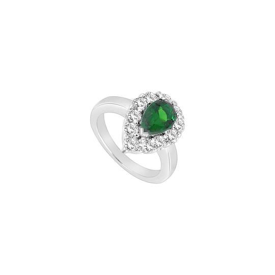 Preload https://img-static.tradesy.com/item/23999873/white-green-created-emerald-and-cubic-zirconia-925-sterling-silver-200-ct-ring-0-0-540-540.jpg