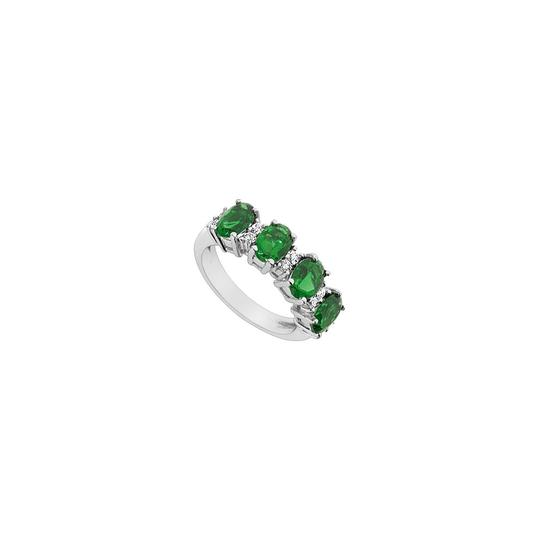 Preload https://img-static.tradesy.com/item/23999886/white-green-created-emerald-and-cubic-zirconia-925-sterling-silver-225-ct-ring-0-0-540-540.jpg