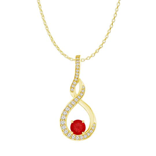 Preload https://img-static.tradesy.com/item/23999899/red-ruby-cz-infinity-style-pendant-18k-yellow-gold-vermeil-necklace-0-0-540-540.jpg