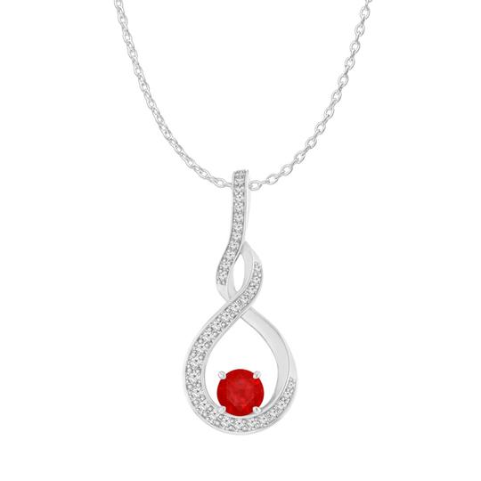 Preload https://img-static.tradesy.com/item/23999916/red-ruby-cz-infinity-style-pendant-in-925-sterling-silver-necklace-0-0-540-540.jpg