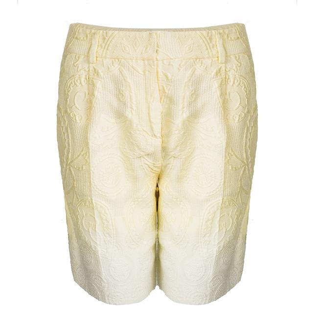 Preload https://img-static.tradesy.com/item/23999920/ermanno-scervino-yellow-pastel-ombre-embossed-jacquard-bermuda-shorts-size-0-xs-25-0-0-650-650.jpg