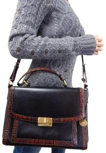 Brahmin Satchel in black pecan